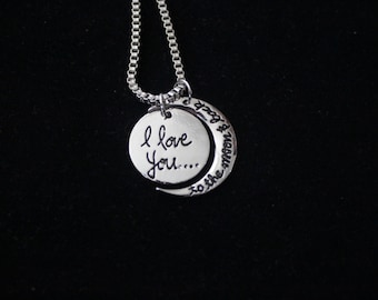 I Love You to the Moon Back Necklace