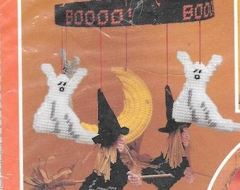 Mary Maxim Plastic Canvas Needlepoint Kit Halloween Mobile New