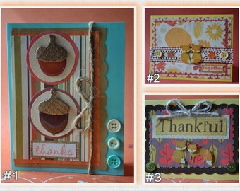 Fall Thankful Handmade Cards (Your Choice!)