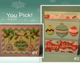 Ornaments Handmade Christmas Card Ornaments