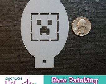 CREEPER - Face Painting Stencil (Mini)
