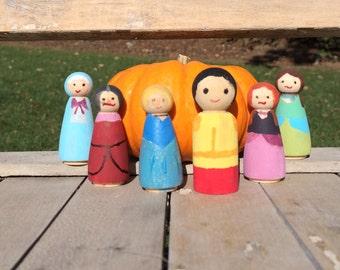 Cinderella peg dolls