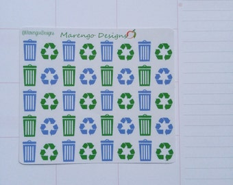 Trash & Recycling Stickers