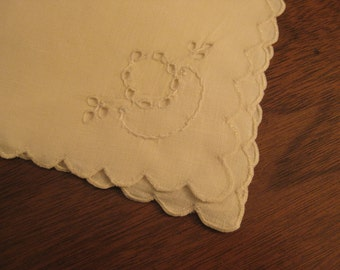 Vintage, off-white, dinner linens/ set of 6