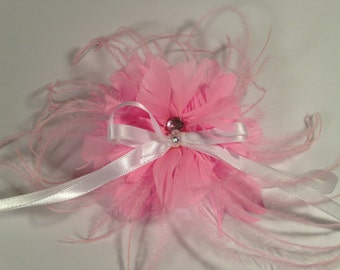 Flower Feather Hair Clip