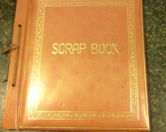 Vintage Tie Bound Scrap Book