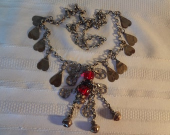 Rare GORGEOUS OTTOMAN ANTIQUE  Jewelry Silver Necklace