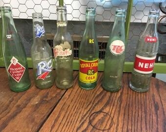 Vintage Soda Bottles, Antique Bottles, Vintage Bottles, RC Cola Bottles, Frostie Soda Bottle, Nehl Bottle