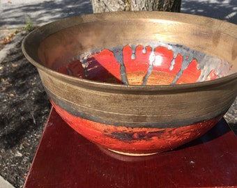 Extra Large Bowl, Handmade Pottery
