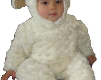 Baby Lamb Halloween or Nativity Christmas Costume