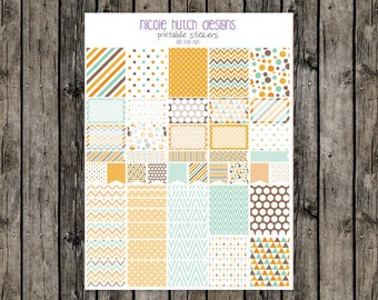 001 Fall Fun // PRINTABLE Planner Stickers