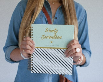 2017 Planner - Heart of the Farm + Minty Stripe  | Life Planner | Meal Planner | 2017 | Weekly Planner | Agenda | 2017 Planner |