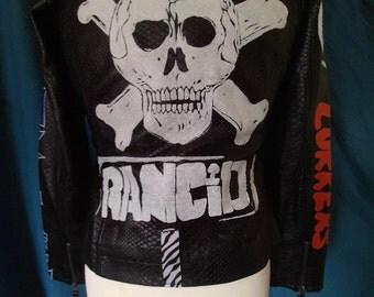 Painted punk biker jacket