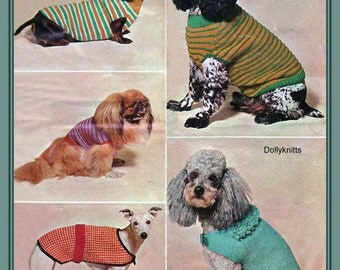 Knitting Pattern For Medium Sized Dog : Dogs knitting pattern. Collared jacket to fit smll to medium sized dogs from ...