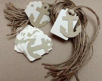 Nautical Tags, Free Shipping, 25 Anchor Tags,Wedding Favor Tags,Nautical Wedding,Nautical Gift Tags,Anchor Gift Tags,Wedding Favor Tags
