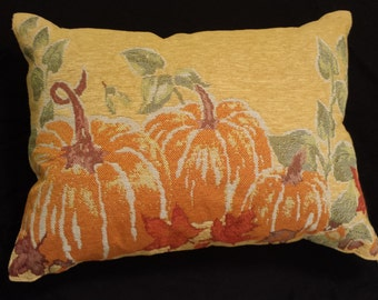 Thanksgiving Pumpkin Tapestry Throw Pillow