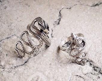 "Adjustable ring ""Snake"" Silver 925"