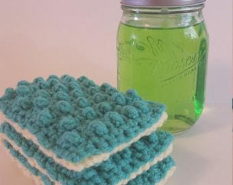 Crochet Dish Sponge, Dish Scrubbie, Reusable Scrubbie, Crochet Dish Sponge, Crochet Scrubbie