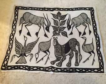 African animal mud cloth