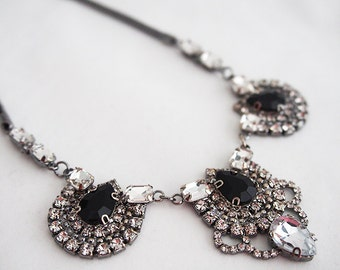 Statement Medallion Crystal Necklace (More Colours Available)