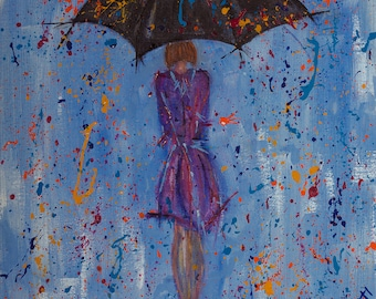 Umbrella whimsical painting ... Purple Rain