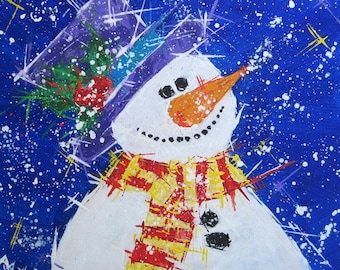 Snowman painting ... Let it snow