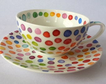 Dunoon Hot Spots Breakfast Cup and Saucer Set. PRICE REDUCED