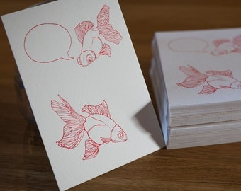 Map letterpress fish red to complete according to opportunities
