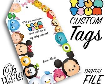 Tsum Tsum Custom Hang Tag Digital file