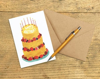 Greetings Card, 'Happy Birthday'