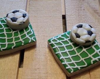 Soccer ball with net - one dozen cookies