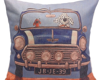 SALE! Dogs on the Road Decorative Pillow
