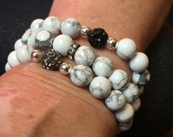 Howlite stretch bracelet