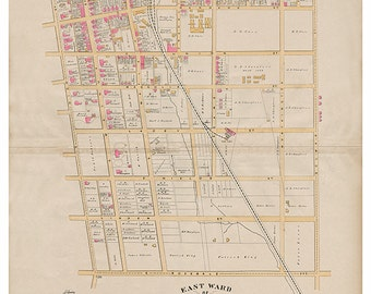 West Chester, PA East Ward Breous Atlas 1883 Reproduction