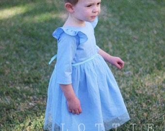 The Wynter Dress - long sleeved dress - winter dress - girls dress - girls winter dress - sleeved dress - Elsa dress - frozen