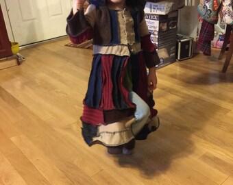 Toddler elf pixie sweater coat dress