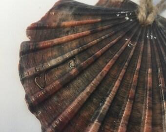Beach Decor Natural Sea Shell Christmas Ornament