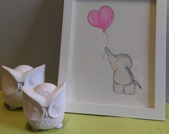 Baby Elephant Balloon - Original Water Pencils