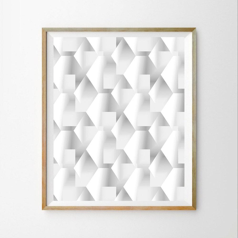3D Wall Art Decor Geometric Wall Art Decor Print Geometric Art