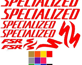 Specialized Decals Fsr x 11. Specialized Bike Stickers Frame Fork Decal Laptop Car. FREE UK SHIPPING.