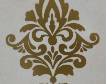 damask wall decals x 5 gold damask wall decal home decor waterproof tile sticker bathroom tile decals dm1g