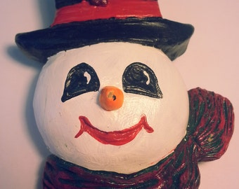 Handpainted Snowman Pin