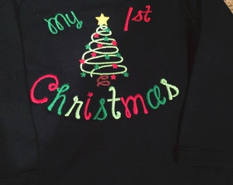 My 1st Christmas Long Sleeve Onesie