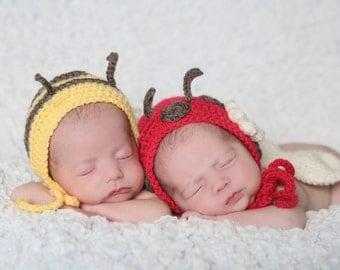 Lady Bug Bumble Bee Newborn Prop Set