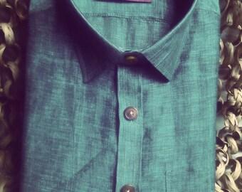 Premium handwoven Linen Men's Shirt