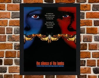 Framed The Silence Of The Lambs Anthony Hopkins Movie / Film Poster A3 Size Mounted In Black Or White Frame