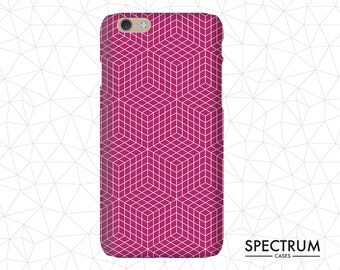 Red geometric pattern iPhone 5c Case, hipster iPhone 5c case, cool iphone 5c case, iPhone 5c case vintage, gift for him, Grid lines,