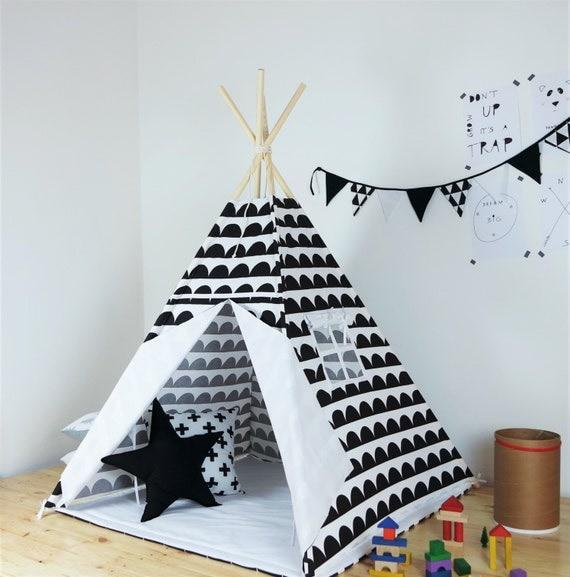 children 39 s teepee playtent tipi zelt wigwam kids. Black Bedroom Furniture Sets. Home Design Ideas