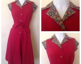 Red Rockabilly dress