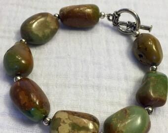 Gemstone bracelet, african turqouise